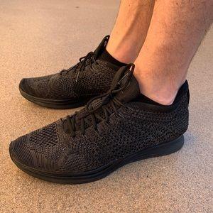 Nike flynit racers size 9 triple black